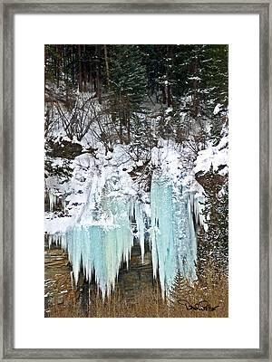 Vail Ice Falls Framed Print by David Salter