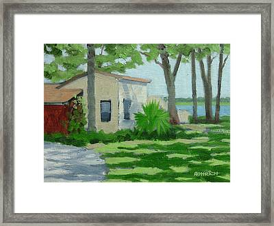 Vail Point Cottage Framed Print by Robert Rohrich