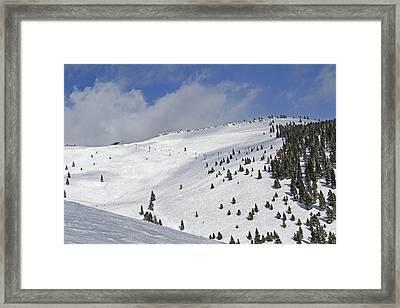 Vail Resort - Colorado - Blue Sky Basin Framed Print by Brendan Reals