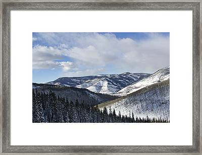 Vail Valley From Ski Slopes Framed Print by Brendan Reals