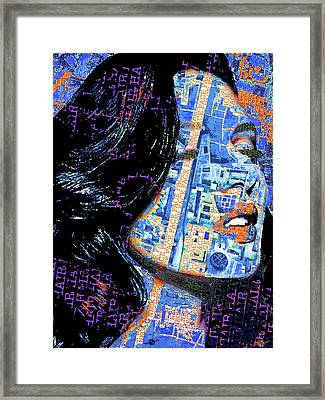 Framed Print featuring the mixed media Vain by Tony Rubino