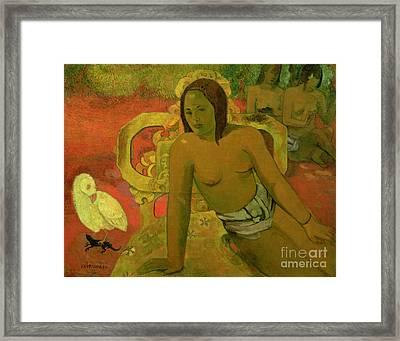 Vairumati Framed Print by Paul Gauguin