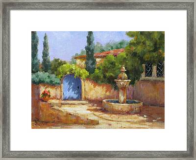 Vaison La Fontaine Framed Print by Barrett Edwards