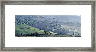 Val D'orcia, Panorama Framed Print by Luigi Morbidelli
