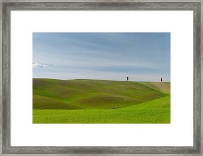 Val D'orcia, Toscana Framed Print