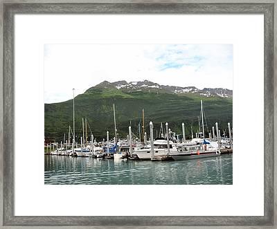 Valdez Alaska Marina Framed Print by Adam Owen