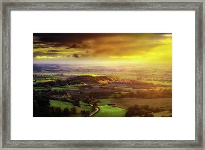 Vale Of Gold Framed Print by Richard Sayer