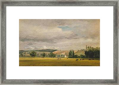 Vale With The House Called Framed Print