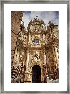 Valencia Cathedral Facade  Framed Print