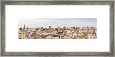 Valencia Panorama Framed Print