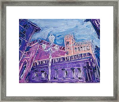 Valencia Spain Old Town Framed Print