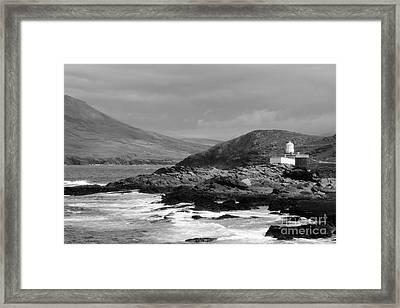 Valentia Island Mono Framed Print