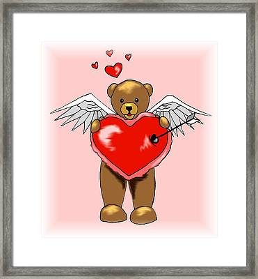 Valentine Bear Framed Print by Scarlett Royal