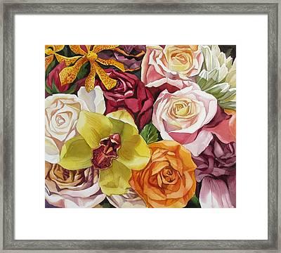 Valentine Bouquet Framed Print