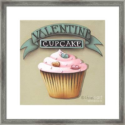 Valentine Cupcake Small Framed Print by Catherine Holman