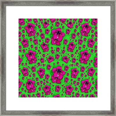 Valentine In Floral Love  Time  Framed Print