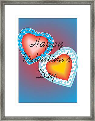Framed Print featuring the painting Valentine Lace by Sherril Porter