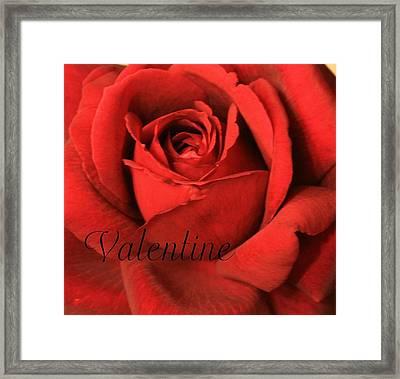 Valentine Framed Print by Marna Edwards Flavell