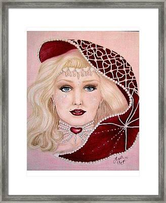 Valentine Framed Print by Scarlett Royal