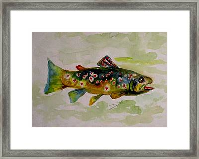 Valentine Trout Framed Print by Delilah  Smith
