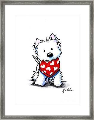 Valentine Westie Framed Print by Kim Niles