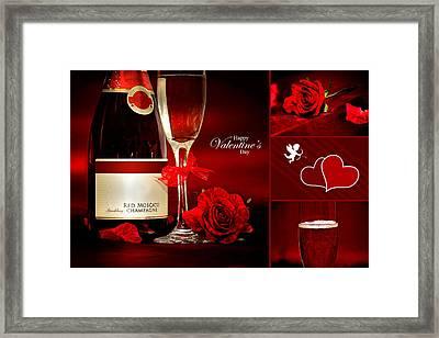 Valentine's Collage Photo Framed Print