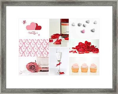 Valentine's Collage Framed Print by Serena King