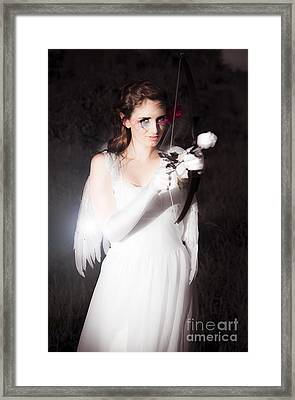 Valentines Day Cupid Framed Print by Jorgo Photography - Wall Art Gallery