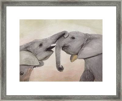 Valentine's Day Elephant Framed Print