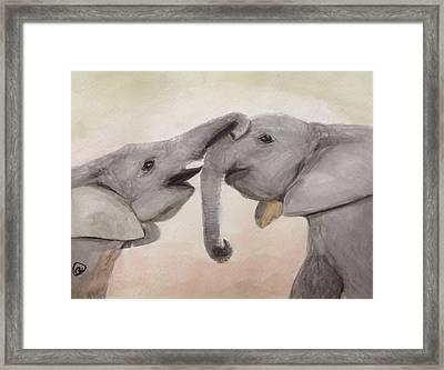 Valentine's Day Elephant Framed Print by Annie Poitras