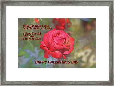 Valentines Day Heart And Soul Framed Print by Linda Brody