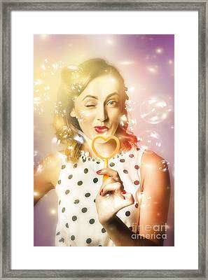 Valentines Day Pin Up Framed Print by Jorgo Photography - Wall Art Gallery