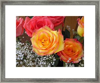 Framed Print featuring the painting Valentine's Day Roses 2 by Renate Nadi Wesley