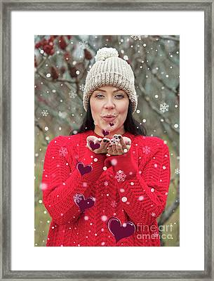 Framed Print featuring the photograph Valentines Kisses... by Nina Stavlund