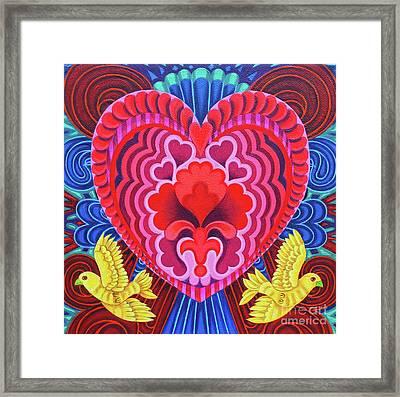Valentine's With Birds Framed Print