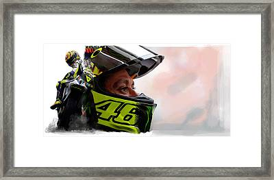 Valentino Rossi  The King Returns  Framed Print