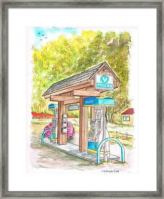 Valero Gas Station In Big Sur, California Framed Print by Carlos G Groppa