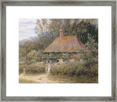 Valewood Farm Under Blackwood Surrey  Framed Print