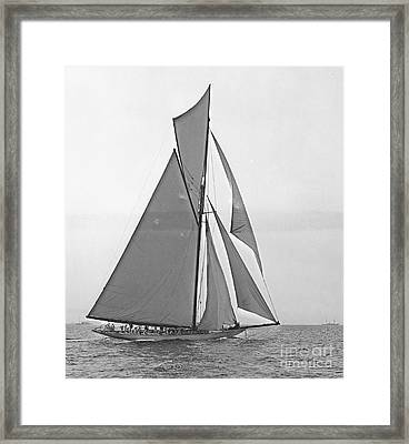 Valkyrie IIi At 2nd Mark Of 2nd Americas Cup Race 1895 Framed Print