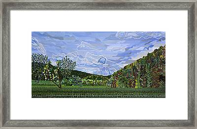 Valle Crucis 1 View From Herb Thomas Road Framed Print