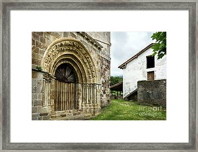 Vallejo De Mena Romanesque Church Of San Lorenzo Framed Print by RicardMN Photography