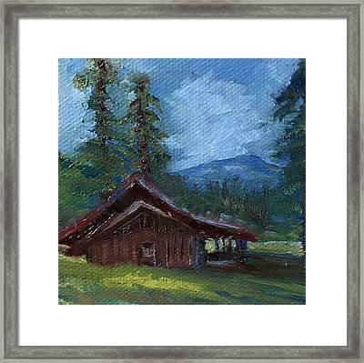 Valles Cabin Framed Print