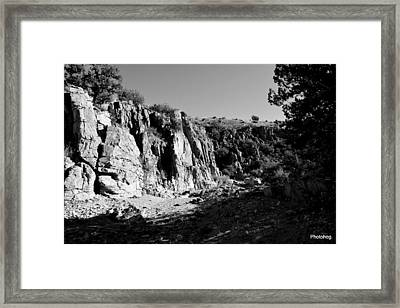 Valles Canyon Framed Print by Adam Jones