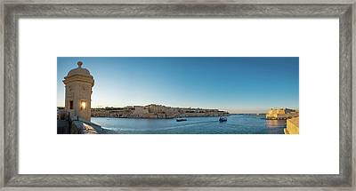 Valletta - Senglea, Malta - Cityscape Photography Framed Print by Giuseppe Milo