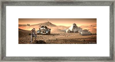 Framed Print featuring the digital art Valley End Cam 34 by Bryan Versteeg