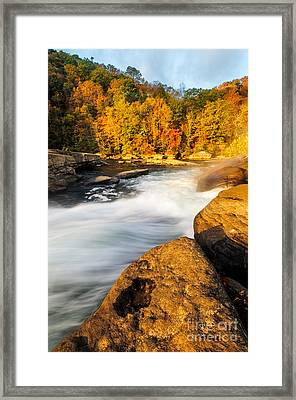 Valley Falls D30020399 Framed Print by Kevin Funk