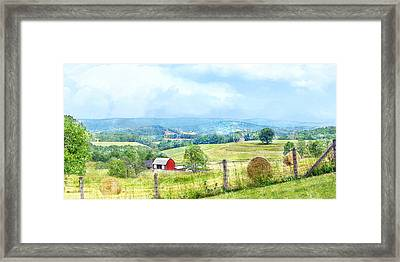 Valley Farm Framed Print by Francesa Miller