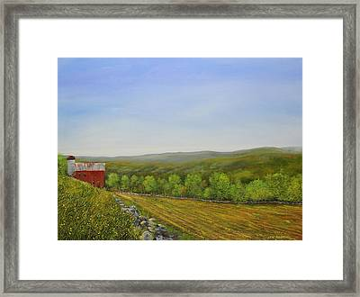 Valley Farm Framed Print by Ken Ahlering