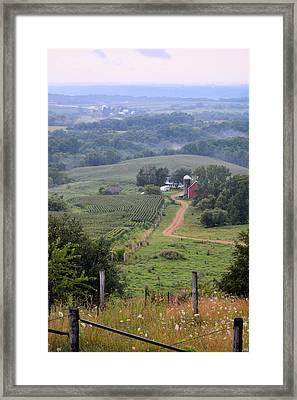Valley Farm Portrait Framed Print