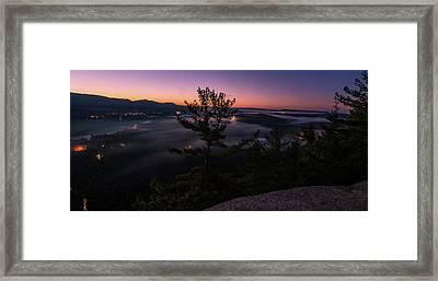 Valley Fog Framed Print by Paul Noble